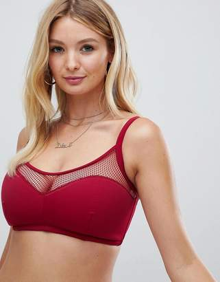 16606620ff8fd Pour Moi Fuller Bust Glamazon cami underwire bikini top in berry B-G cup