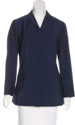 Alberta Ferretti Long Sleeve Notch-Lapel Blazer