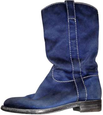 Officine Creative Blue Synthetic Boots