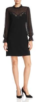 Rebecca Taylor Clip Dot & Lace Dress