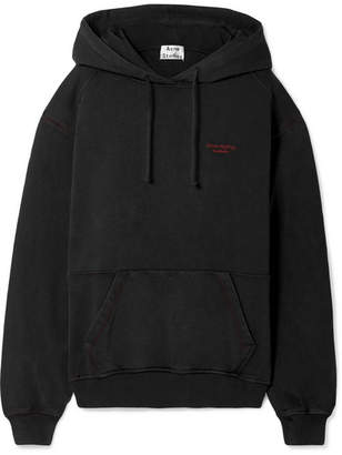 Acne Studios Embroidered Cotton-jersey Hoodie