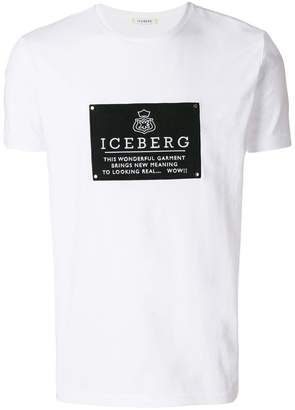 Iceberg patch embroidered T-shirt