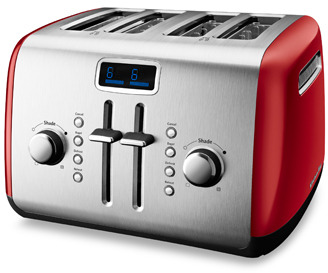 KitchenAid 4-Slice High-Lift Lever Toaster - Red
