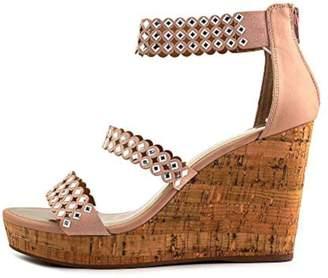 Nine West Womens Fancyoner7 Peep Toe Ankle Strap Wedge Pumps Size 8.5