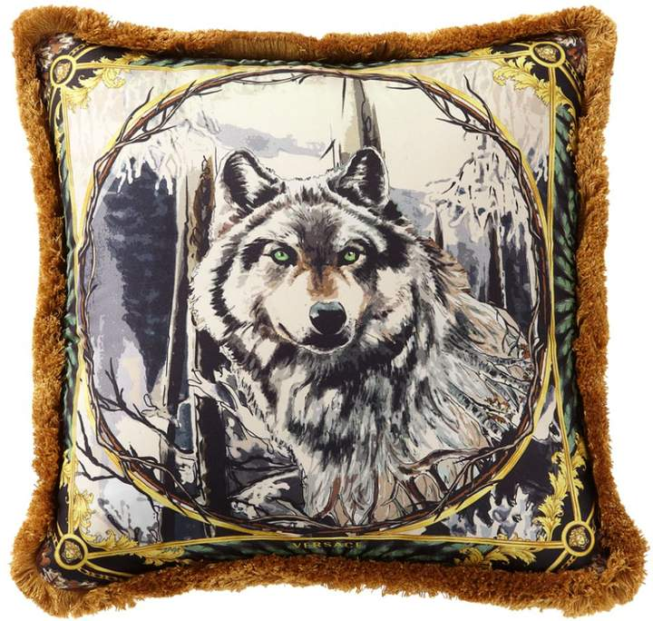 Harry Wolf Printed Silk Accent Pillow