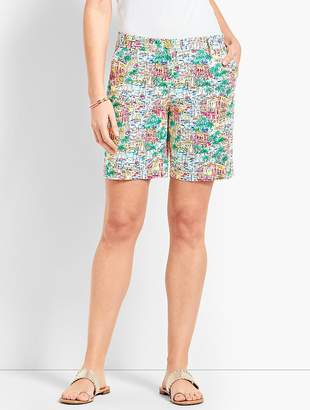 "Talbots 7"" Girlfriend Chino Short-Santorini"
