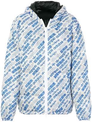 adidas By Alexander Wang reversible logo print padded jacket