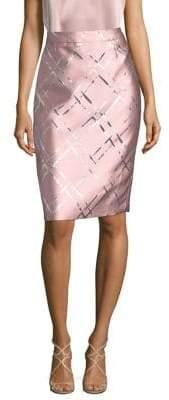 Escada Metallic Jacquard Pencil Skirt