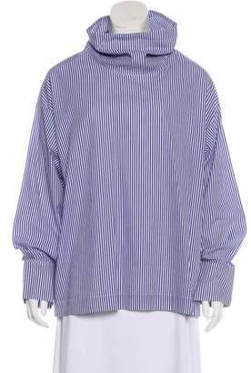 Rosie Assoulin Stripe Long Sleeve Blouse