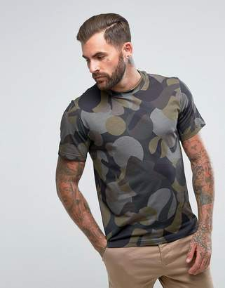 Paul Smith Camo Graphic T-Shirt in Khaki