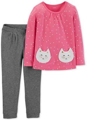Carter's Carter Baby Girls 2-Pc. Cotton Top & Pants Set
