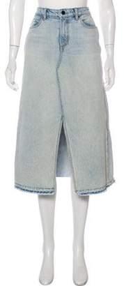 Alexander Wang Denim x Denim Midi Skirt