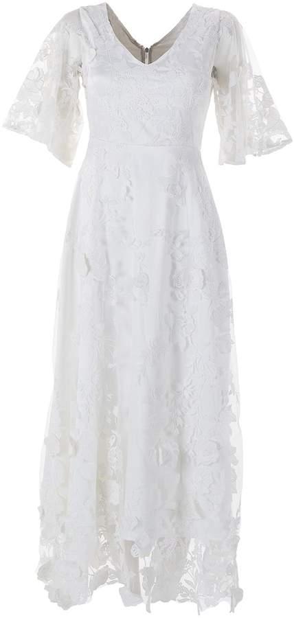 Emelita - Silk Lace White Dress