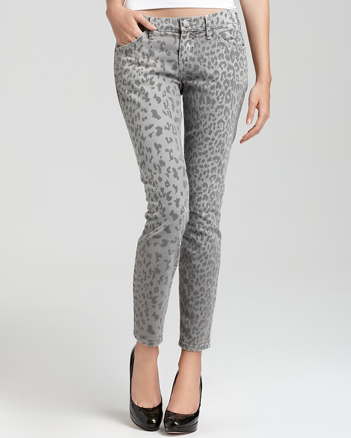 Current/Elliott The Stiletto Leopard Print Pants
