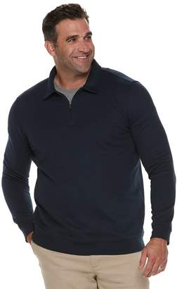 Croft & Barrow Big & Tall Classic-Fit Extra-Soft Quarter-Zip Pullover