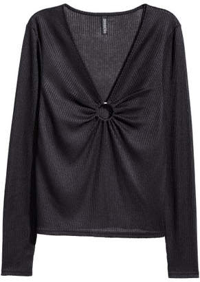 H&M Sweater with Metal Ring - Black