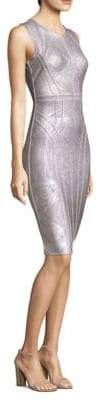 Herve Leger Foil Cocktail Dress