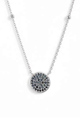Argentovivo Round Pave Pendant Necklace