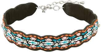 Rebecca Minkoff Stitched Guitar Strap Choker Necklace