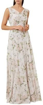 Hobbs London Lila Floral Print Silk Chiffon Gown