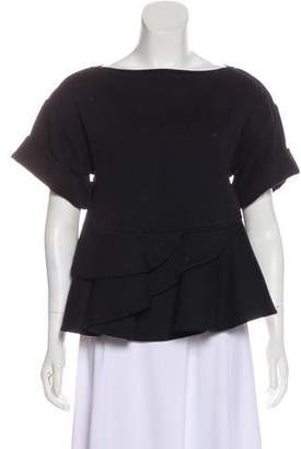 Givenchy Short Sleeve Peplum Top w/ Tags