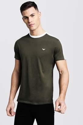 boohoo Regular Fit Shoulder Panel T-Shirt