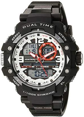 Armitron Sport Men's 20/5062RED Red Accented Analog-Digital Chronograph Black Resin Strap Watch
