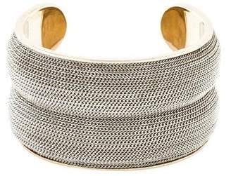 Salvatore Ferragamo Wide Chain Cuff Bracelet