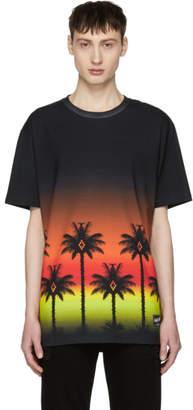 Marcelo Burlon County of Milan Black Red Palms T-Shirt