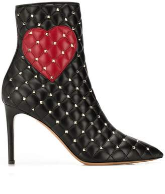 Valentino RED(V) heart print boots