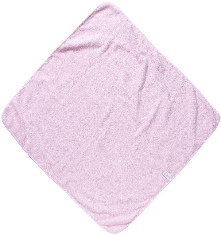 SpaSilk 100% Cotton Hooded Terry Bath Towel + 4 Washcloths Set - Pink Butterfly