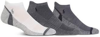 Polo Ralph Lauren Athletic Feed Stripe Low-Cut Socks, Pack of 3