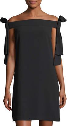 Cynthia Steffe Cece By Tie-Shoulder Crepe Shift Dress