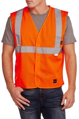 Walls Big Men's ANSI 2 High Visibility Mesh Safety Vest