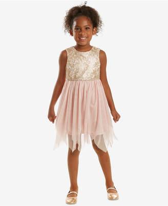 Rare Editions Little Girls Sequin-Bodice Fairy Dress