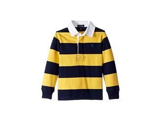 Polo Ralph Lauren Striped Cotton Jersey Rugby (Little Kids/Big Kids)