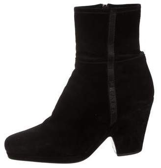 Prada Sport Suede Square-Toe Ankle Boots