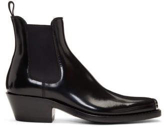 Calvin Klein Black Western Chris Abrasivato Chelsea Boots