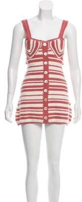 She Made Me Striped Crocheted Dress