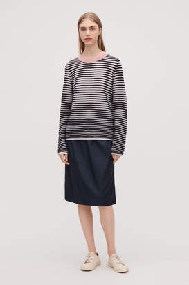 Cos STRIPED FINE-KNIT TOP