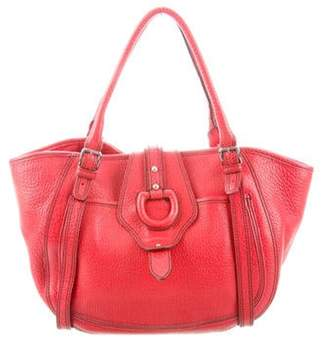 Dolce & Gabbana Grained Leather Tote Red Grained Leather Tote