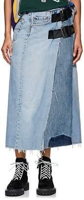 Needles Women's Buckle Denim Wrap Skirt
