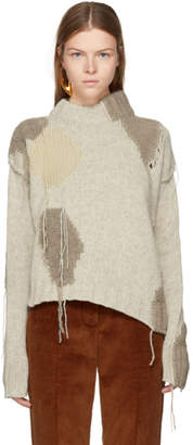 Acne Studios Beige Ovira Patch Sweater
