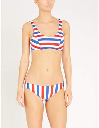 Champion Logo-print striped bikini top