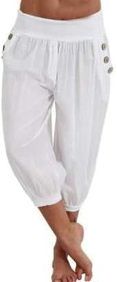 Wenko Joe JWK Womens Yoga Trousers Jogger Harem Solid Capri Plus Size Pants S