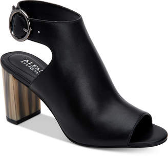 Alfani Floriss Step 'N Flex Horn Block-Heel Shooties, Women Shoes