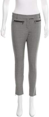 Veronica Beard Mid-Rise Houndstooth Pants