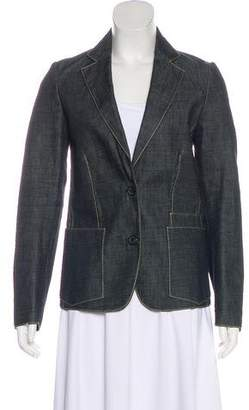 Gucci Leather-Lined Denim Blazer