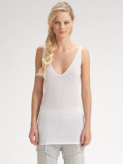 T by Alexander Wang Plunge-Back Tank
