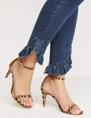 Lane Bryant Leopard Ankle-Strap High Heel